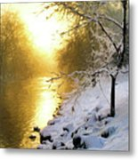 Grings Mill Fog 90-010 Metal Print
