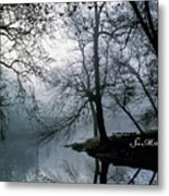 Grings Mill Fog 1043 Metal Print