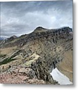 Grinnell Glacier Overlook Panorama - Glacier National Park Metal Print