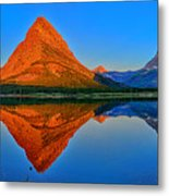 Grinnell Point Alpenglow Panorama Metal Print