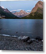 Grinnell Point Over Swiftcurrent Lake Metal Print