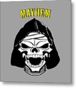 Grinning Mayhem Death Skull Metal Print