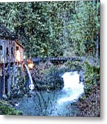 Griss Mill Watercolor Metal Print