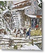 Grist Mill, 19th Century Metal Print