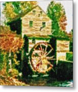 Grist Mill Tranquility Metal Print