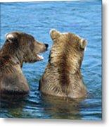 Grizzly Bear Talk Metal Print