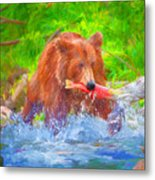 Grizzly Delights Metal Print