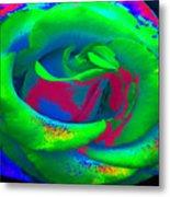 Groovin Rose Metal Print