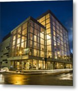Groovy Modern Architecture One Wintry Night Metal Print