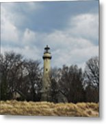 Grosse Point Lighthouse Portrait Metal Print