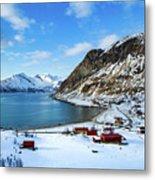 Grotfjord Norway Metal Print