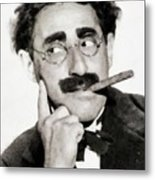 Groucho Marx, Vintage Comedy Actor Metal Print