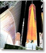Ground  Zero Freedom Tower Formerly World Trade  Centre Wtc New York Photo Taken On July 4 2015 Usa  Metal Print