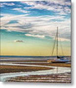 Grounded On The Beach Metal Print
