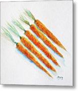 Group Of Carrots Metal Print