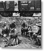 Group Of Hoboes, 1920s Metal Print