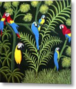 Group Of Macaws Metal Print
