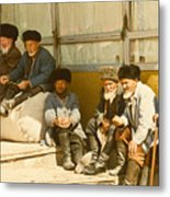 Group Of Uzbek Retirees Metal Print