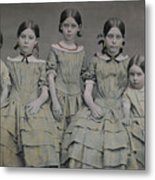 Group Portrait Of Five Sisters Metal Print