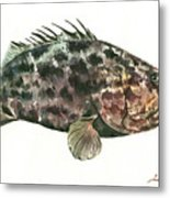 Grouper Fish Metal Print