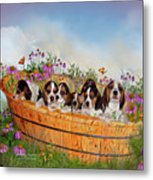Growing Puppies Metal Print