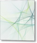 Growth Computer Graphic Line Pattern Metal Print