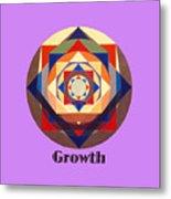 Growth text Metal Print