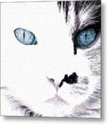 Grumpy Cat Portrait Metal Print