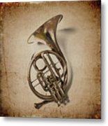Grunge French Horn Metal Print