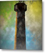 Grunge Lighthouse Metal Print