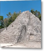 Grupo Nohoch Mul At The Coba Ruins  Metal Print