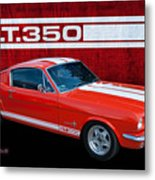 Red Gt 350 Mustang Metal Print