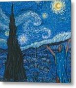Guadalupe Visits Van Gogh Metal Print