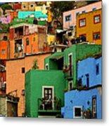 Guanajuato Hillside 2 Metal Print