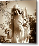Guardian Angel Bw Metal Print