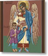 Guardian Angel Guarding Little Elijah Gemmell 191 Metal Print
