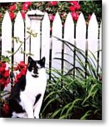 Guarding The Rose Garden Metal Print
