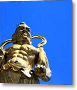 Guarding The Temple Metal Print