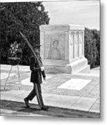 Guarding The Unknown Soldier Metal Print