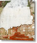 Guatemalan Ancient Wall Antigua Metal Print