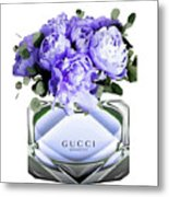Gucci Perfume With Flower Metal Print