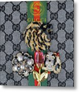 Gucci With Jewelry Metal Print