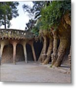 Guell Style Metal Print