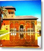 Guest House At The Alhambra Metal Print