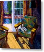 Guesthouse In Santa Fe Metal Print by Sandra Ortega