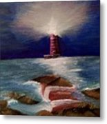 Guiding Night Light Metal Print