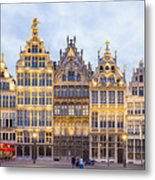 Guild Houses At The Grote Markt Metal Print