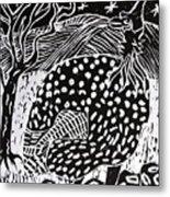 Guinea Fowl Under The Stars Metal Print