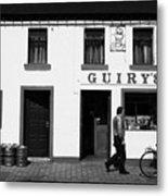 Guirys Irish Pub Foxford County Mayo Ireland Metal Print by Joe Fox