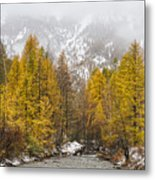 Guisane Valley In Autumn - French Alps Metal Print